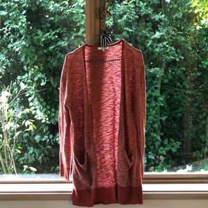 Made well dark orange cardigan
